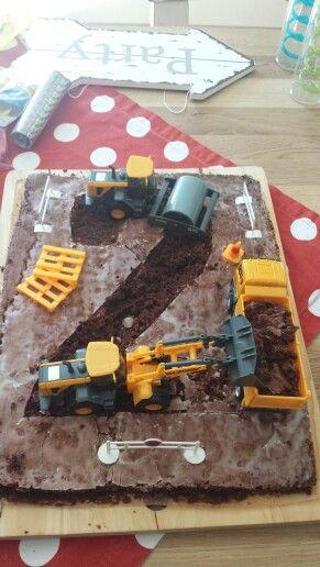 Baustellen-Kuchen zum 2. Geburtstag.