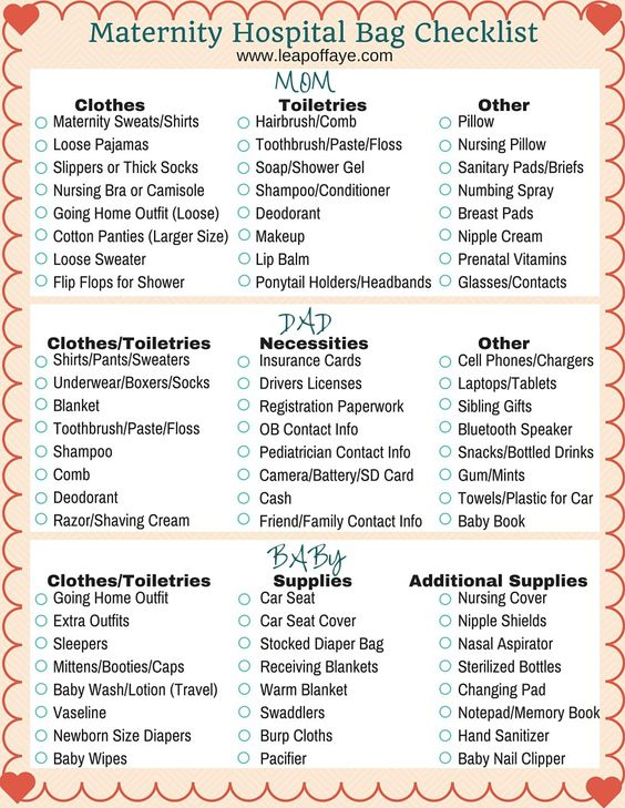 ... Hospital Checklist on Pinterest | Hospital Bag, Hospital Bag Checklist
