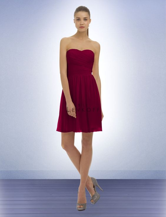 Bridesmaid Dress Style 320 - Bridesmaid Dresses by Bill Levkoff. Wine (all Bill Levkoff dresses come in 3 colors that work.. Plum, Sangria and Wine)