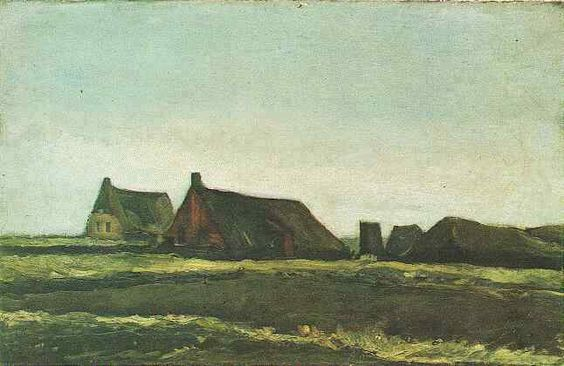 Cottages  Oil on canvas 35.5 x 55.5 cm. Nieuw-Amsterdam: mid September-mid November, 1883  Amsterdam: Van Gogh Museum