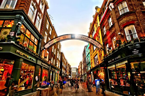 Carnaby Street, London. You can find great London hotel deals starting from 26€