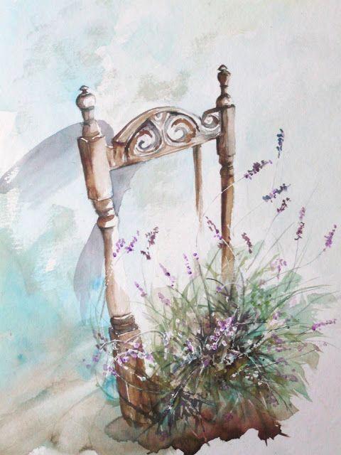 Aquarelles lavande and bouquets on pinterest - Peinture couleur lavande ...