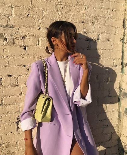 #violet #lime #blazer #colors #outfit #fallwinter #newcolor