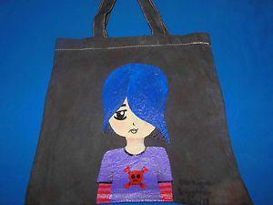 """Hand-painted Tote Bag """"Emo Kid"""""""