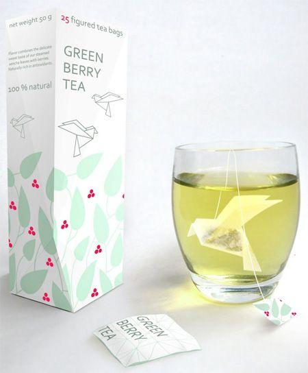 Sachet de thé en Origami par Natalia Ponomareva