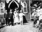"Wedding group outside church in Canterbury - Sydney, NSW, ca 1927. ""Roy & Olive Troy's wedding"". Courtesy of State Library of NSW"