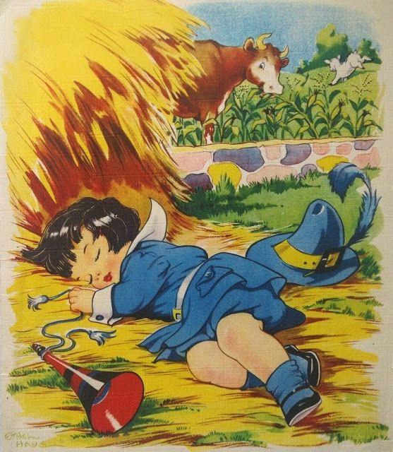 Ethel Hays ilclanmariapia: illustratori-bambini #nurseryrhymes #littleboyblue: