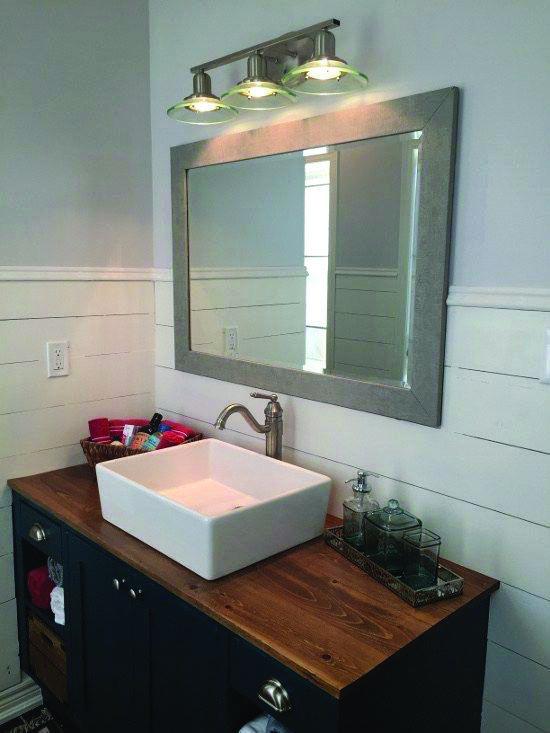 Gorgeous Shiplap Behind Bathroom Vanity On This Favorite Site Bathroom Vanity Makeover Diy Bathroom Vanity Makeover Bathroom Makeover