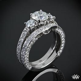 "3 Stone ""Coeur de Clara Ashley"" Diamond Wedding Set $4,645.00"