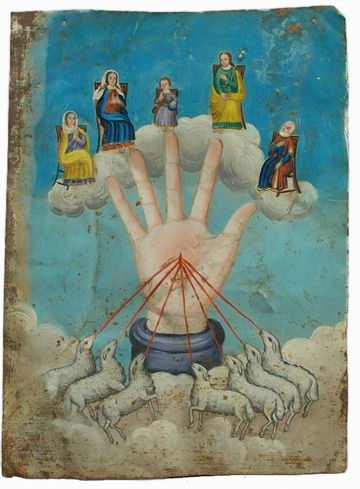 """La Mano Ponderosa/The Powerful Hand""  (courtesy Colonial Arts):"