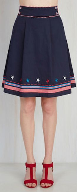 stars and stripes midi skirt