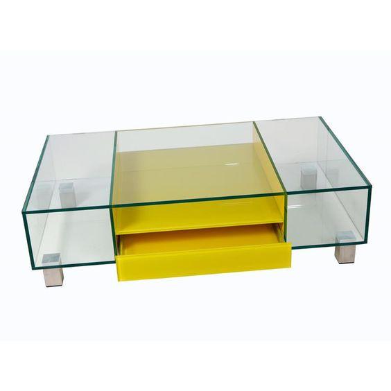 Salontafel Glas Natuursteen.Salontafels