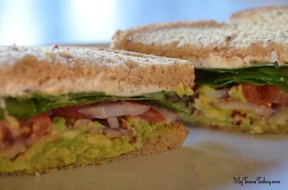 Amy's Avocado Sandwich