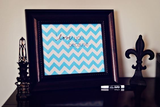 I Love You Because Message Board:  finally using those frames that have been sitting in the closet!