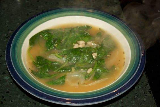 Hearty White Bean and Spinach Soup with Rosemary and Garlic