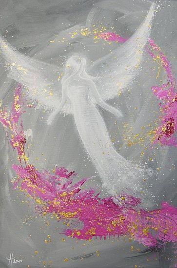 Limited angel art poster Luck modern contemporary door HenriettesART, €20.00.................................lbxxx.