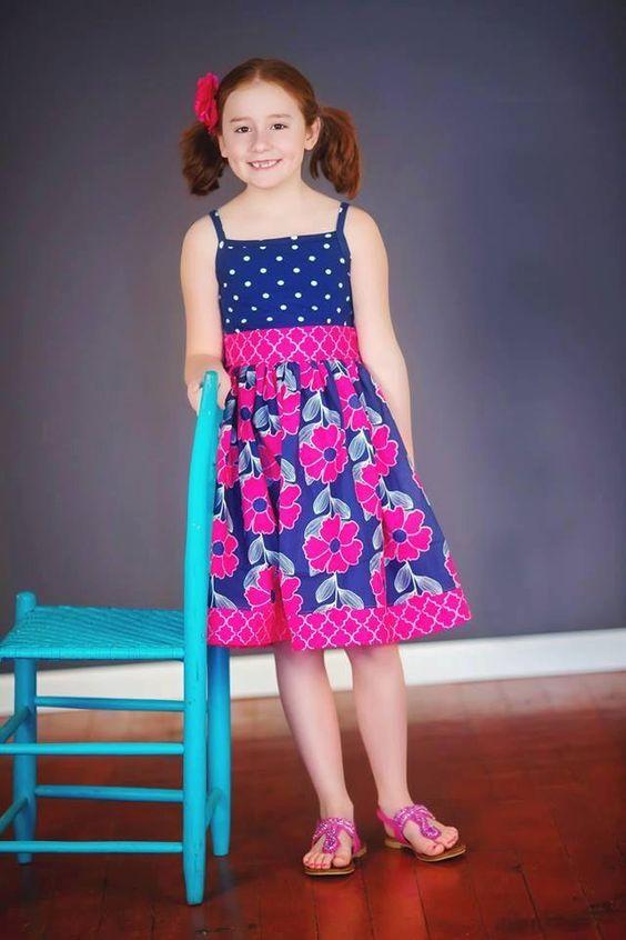 Easy+Dress+Pattern+Girls+Dress+Sewing+Pattern+door+littlelizardking,+$10,25