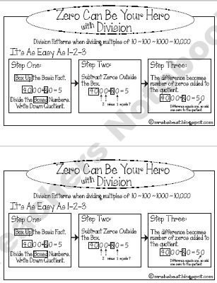 Zero Can Be Your Hero with Division - Patterns with Multiples of ...