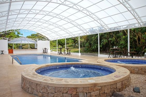 Swimming Pool Canopy,Swimming Pool Awning Tent,Aluminum Frame,PVC - indoor pool bauen traumhafte schwimmbaeder