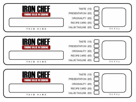 Resource iron chef activity young women pinterest for Chef template resource