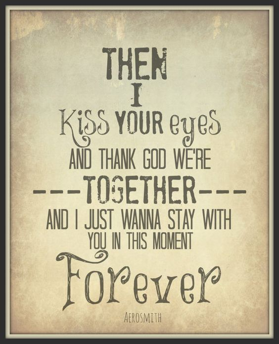 Aerosmith 8x10 Lyric art print Song art Typography by gbloomstudio