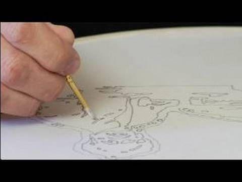 How to Silkscreen a T-Shirt : Painting Glue on Details for Silkscreening...