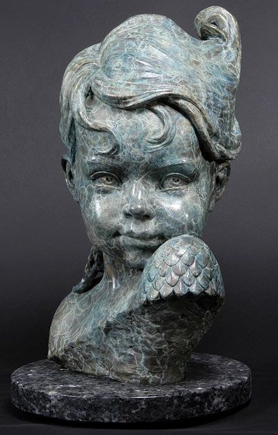 Philippe Faraut | Child of Atlantis - 2002 (Bronze):