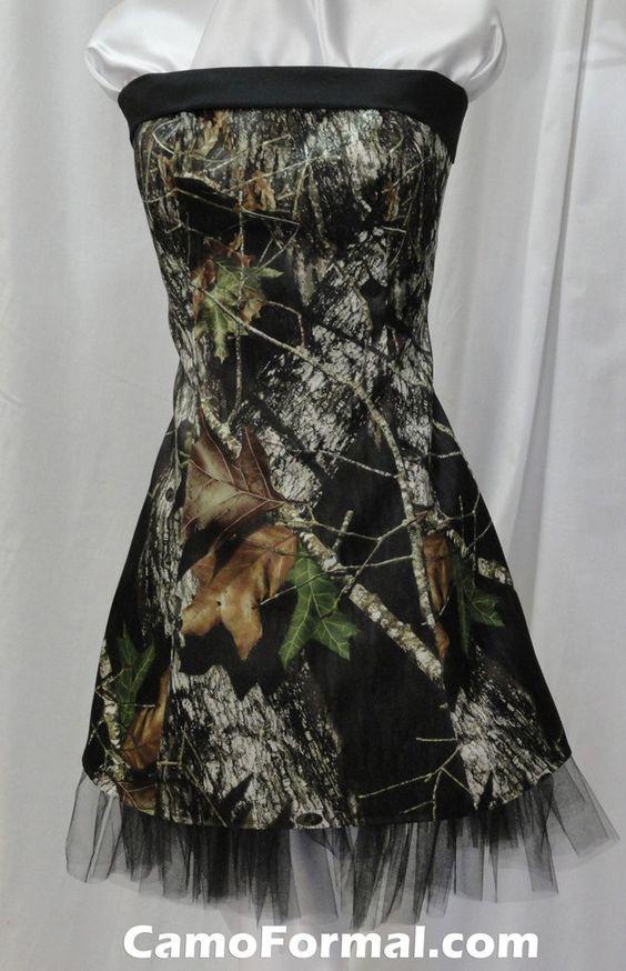 Wedding camouflage dresses and breakup on pinterest for Mossy oak camo wedding dress