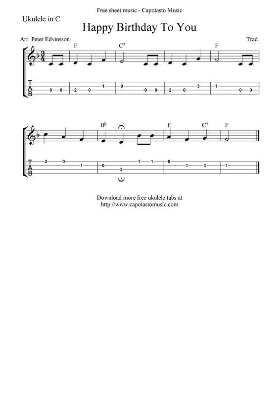 Ukulele happy birthday ukulele tabs : Pinterest • The world's catalog of ideas