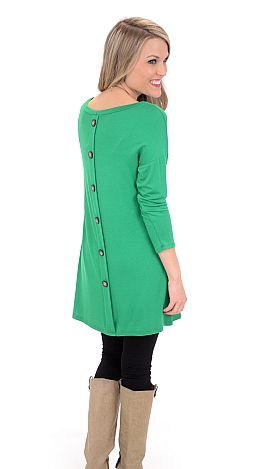 ShopBlueDoor.com: Simple in the front with buttons down the back! $32