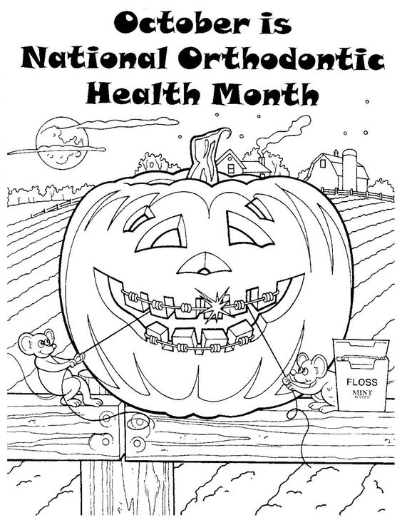 orthodontic coloring pages - photo#2