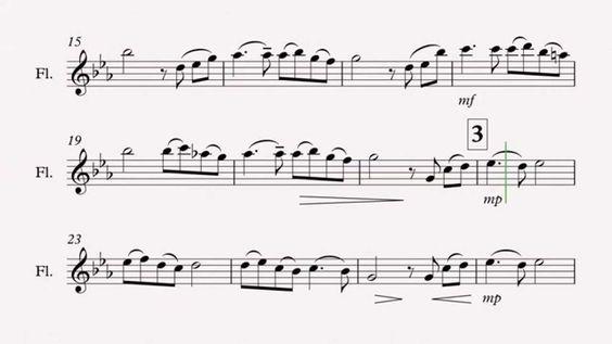 Song From a Secret Garden (flute sheet music) Band to the Bone - wrestling score sheet