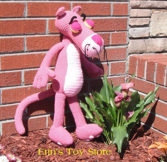 Big Pink Panther a Crochet Pattern by Erin Scull Pink ...