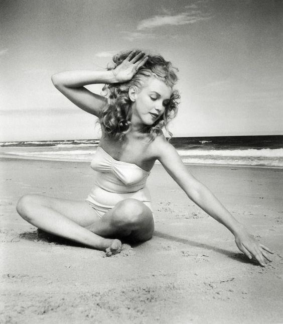 Marilyn Monroe at Tobay Beach, Long Island by Unknown Artist.