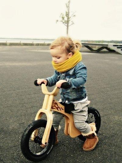 自転車もかわいい。