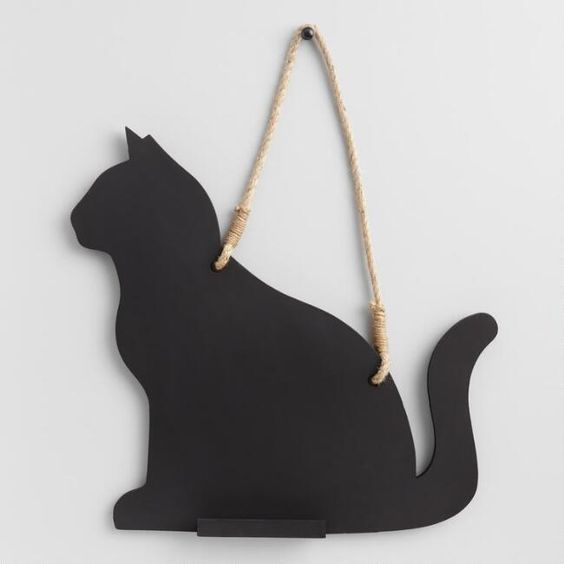 Cat Shaped Chalkboard - World Market