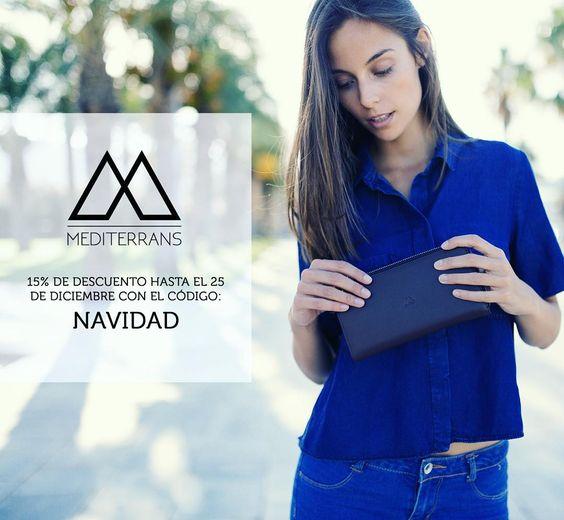 Usa el código NAVIDAD para tener un 15% de descuento en tus regalos de Navidad!  www.mediterrans.com