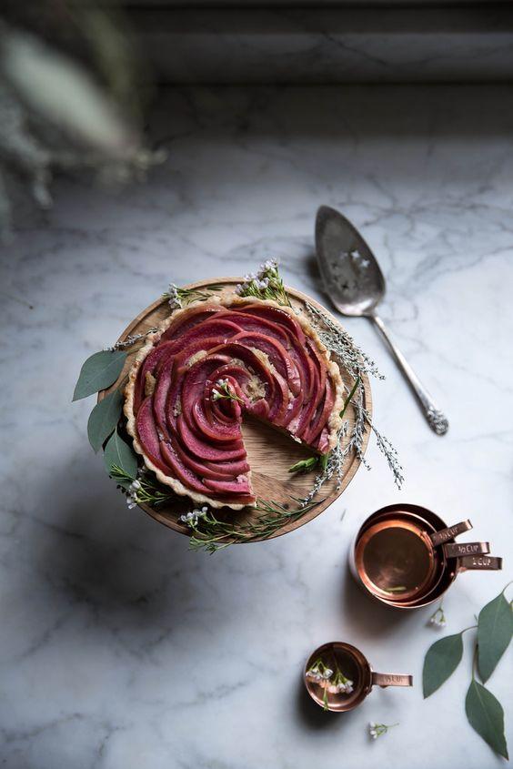 Torta rosa de maça