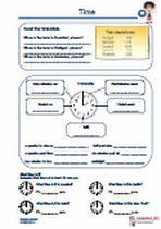 #Time What's the time? Übungen und #Arbeitsmaterialien für die #Grundschule und Sekundarstufe, Uhrzeit erkennen / eintragen, #Kreuzwortraetsel, Fragen beantworten, Wortschlange, #Uebersetzung, #Fragen beantworten, #Lueckentexte