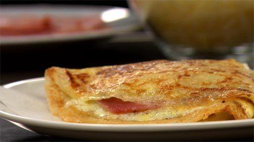 Crêpes with Ham, Egg - a.k.a. the BEST crêpe ever!!!!!