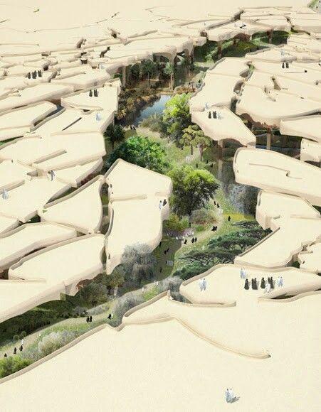 Dry desert concept