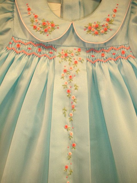 New boutique design hand embroidered smocked por CiaoBebeBoutique