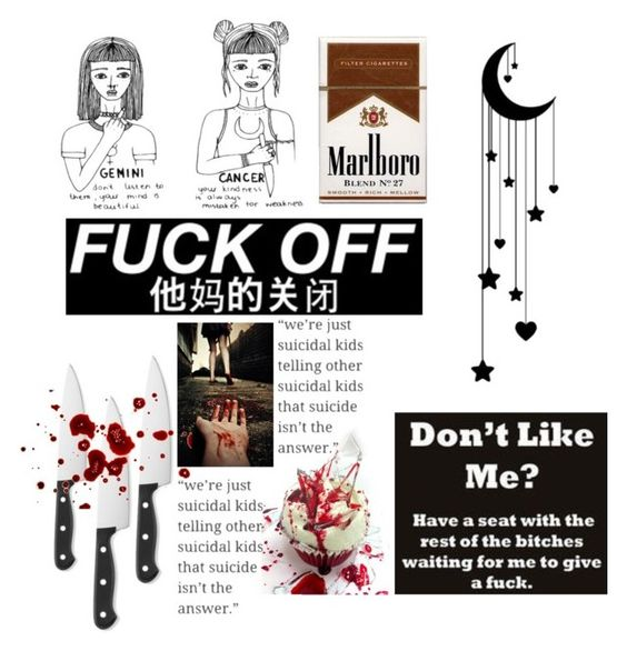 """Why i made this??? Oh yeah cuz f*ck you haha"" by kimberlyrosso11 ❤ liked on Polyvore featuring art"
