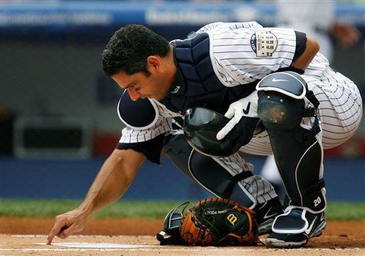 Sure will miss him behind the plate.