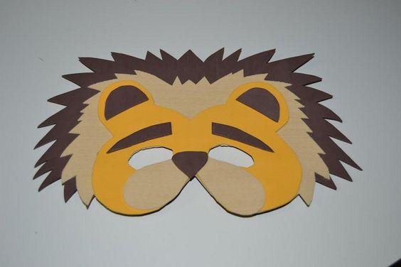 C mo hacer una m scara de le n para un disfraz infantil - Como hacer una mascara ...
