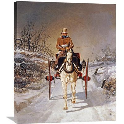 Global Gallery 'A Winter's Drive' by Benjamin Herring Painting Print on Wrapped Canvas Size: