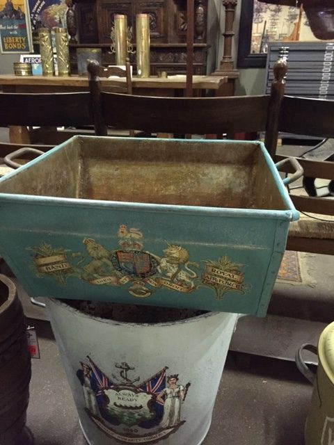 buckets with Victorian transfers: available for purchase at Uncommon Market Dallas, 100 Riveredge Drive, Dallas, Texas 75207; call us @ 214-871-2775 if you would like to put this item on a 2 day HOLD.