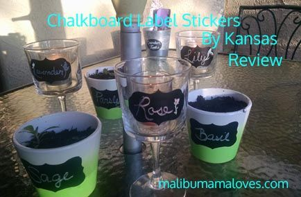 Check out these cool Chalkboard label stickers! #fun #organizingtips #kansaslabels