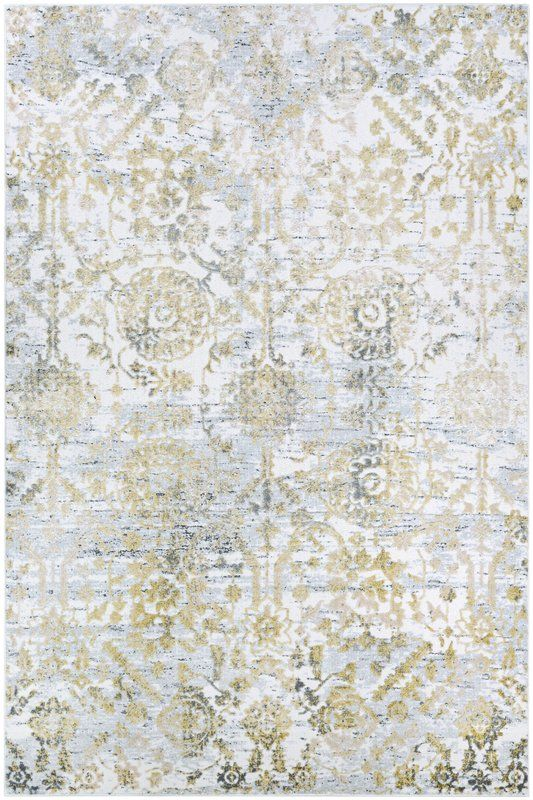 Emily Gold Area Rug Floral Rug Gold Rug Area Rugs