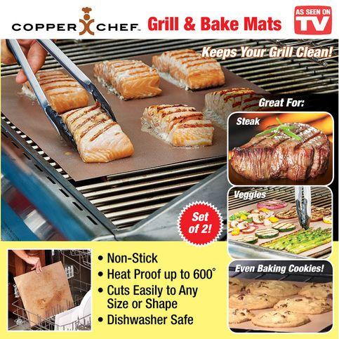 Copper Chef Non Stick Grill Bake Mats Copper Chef Baking Mat Grilling